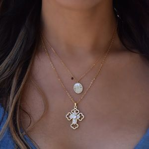 Faithful Bunny Cross Necklace Set